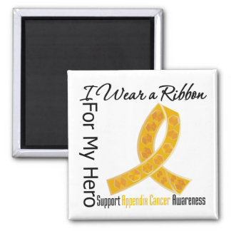Ribbon For My Hero - Appendix Cancer Refrigerator Magnet