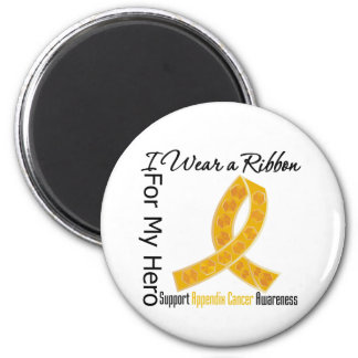Ribbon For My Hero - Appendix Cancer Magnet