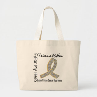 Ribbon For My Hero - Brain Cancer Canvas Bag