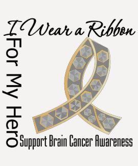 Ribbon For My Hero - Brain Cancer Tshirt