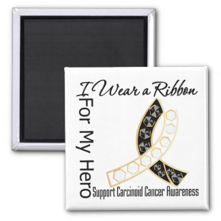 Ribbon For My Hero - Carcinoid Cancer 2 Inch Square Magnet