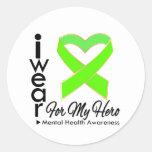 Ribbon For My Hero - Mental Health Awareness Sticker