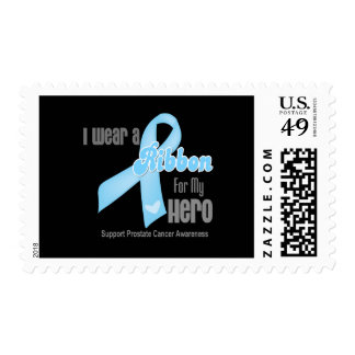 Ribbon For My Hero - Prostate Cancer Postage Stamp