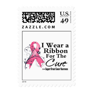 Ribbon For The Cure - Breast Cancer Stamp