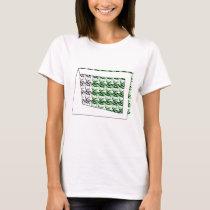 ribbon heart green T-Shirt