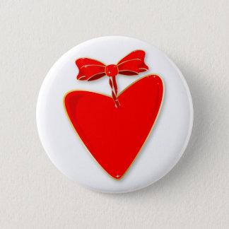 Ribbon Heart Pinback Button
