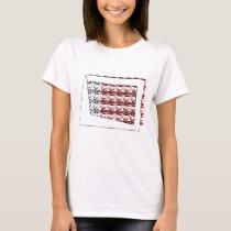ribbon heart red T-Shirt