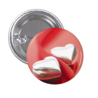 Ribbon Hearts Pinback Button