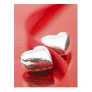 Ribbon Hearts Postcards