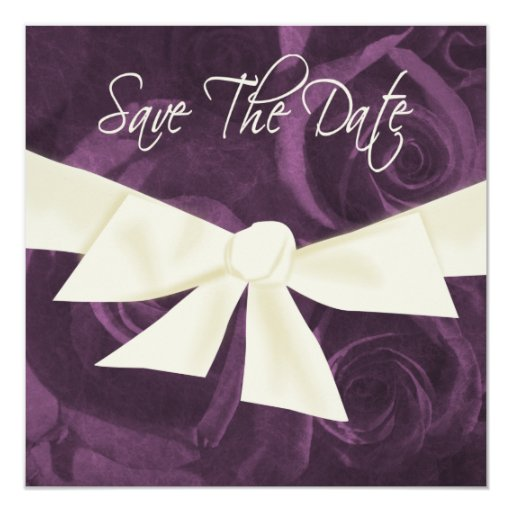 Ribbon n Roses Save the Date Personalized Invites