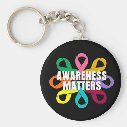 Ribbon of Cancer Awareness - Awareness Matters Keychain