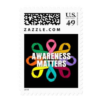 Ribbon of Cancer Awareness - Awareness Matters Postage Stamp