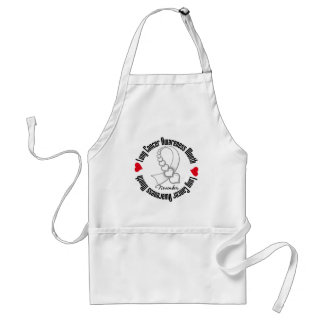 Ribbon of Hearts - Lung Cancer Awareness Month Aprons
