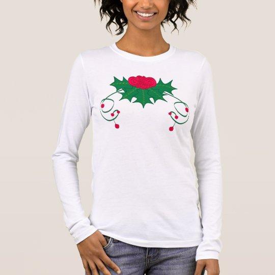 Ribbon of Holly Long Sleeve T-Shirt