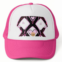 Ribbon of Hope & Support,Breast Cancer_ Trucker Hat