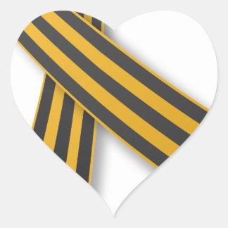 Ribbon of Saint George Heart Sticker