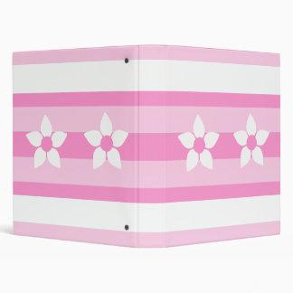 Ribbon Pink Flower Binder