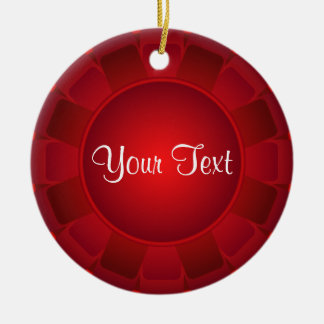 Ribbon Red Blank to Customize Ceramic Ornament