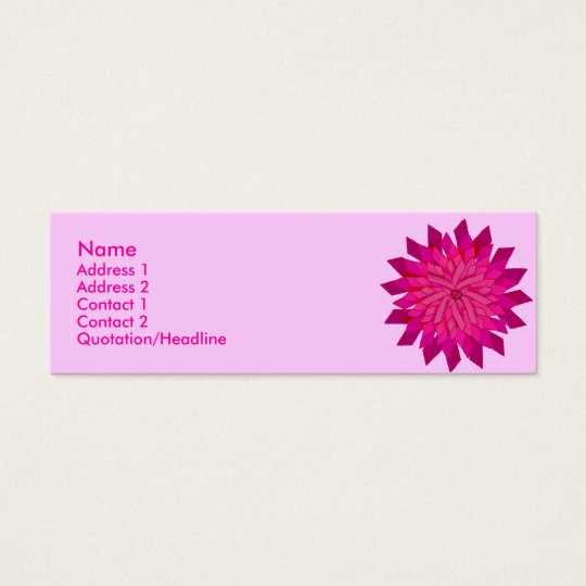 Ribbon Rose Profile Card