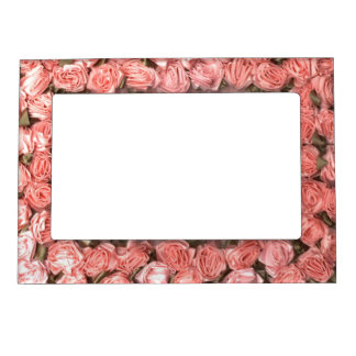 Ribbon Roses And Leaves Magnetic Photo  Frame