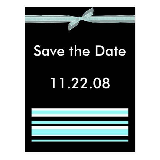 Ribbon Save the Date Postcard