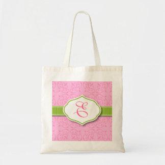 Ribbon & Seal Monogram Bridesmaid Tote Bag