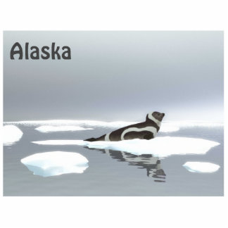 Ribbon Seal On Ice Statuette