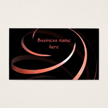 Professional Business Ribbon spiral elegant business card