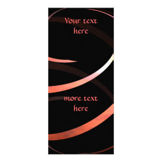 Ribbon spiral to personalize rack card