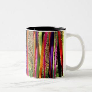 Ribbon Streamers Two-Tone Coffee Mug