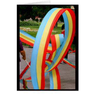 Ribbon Twirls Greeting Card