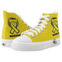Ribbon/Wings...Endometriosis High-Top Sneakers