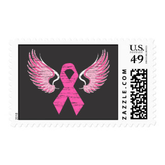 Ribbon & Wings Postage Stamp