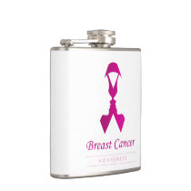Ribbon with faces of 2 women-Empowering women Flask