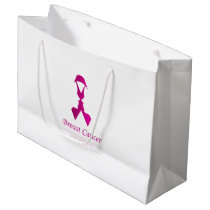 Ribbon with faces of 2 women-Empowering women Large Gift Bag