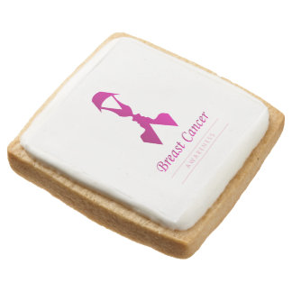 Ribbon with faces of 2 women-Empowering women Square Shortbread Cookie