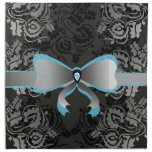 Ribbon with flowers printed napkins