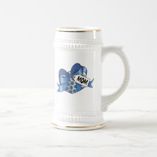 Ribbon wrapped gift for  Mom-002 Beer Stein
