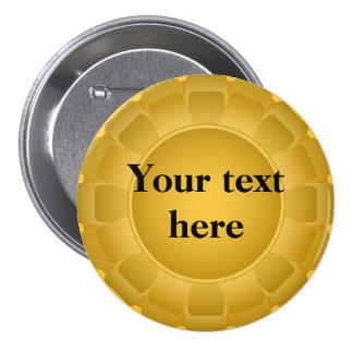 Ribbon Yellow Blank to Customize Pinback Button