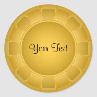 Ribbon Yellow Blank to Customize Round Stickers