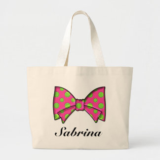 Ribbons and Bows by SRF Large Tote Bag