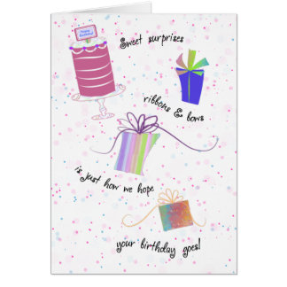 Ribbons and Bows Happy 80th Birthday Greeting Greeting Card