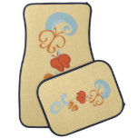 Ribbons and Butterfiles Car Floor Mat