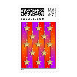 Ribbons and Stars Postage