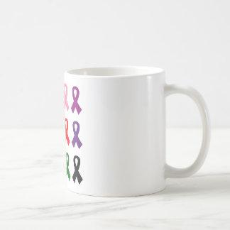 Ribbons anti cancer coffee mug