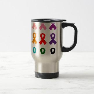 Ribbons anti cancer travel mug