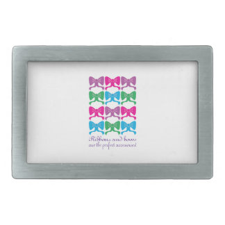 Ribbons & Bows Perfect Accessories Rectangular Belt Buckle