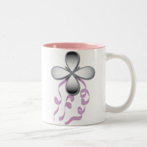 ribbons copy Two-Tone coffee mug