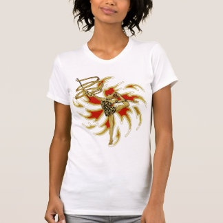 Ribbons flames on white T-Shirt