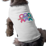 Ribbons For a Cause v4 - CancerApparelGifts.Com Pet Shirt